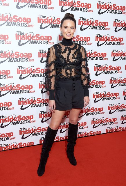Jessamy Stoddart attends the Inside Soap Awards at Sway on October 07, 2019 in London, England. (Photo by Joe Maher/Getty Images)