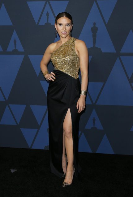Scarlett Johansson arrives to the Academy of Motion Picture Arts and Sciences' 11th Annual Governors Awards held at The Ray Dolby Ballroom at Hollywood & Highland Center on October 27, 2019 in Hollywood, California. (Photo by Michael Tran/FilmMagic)
