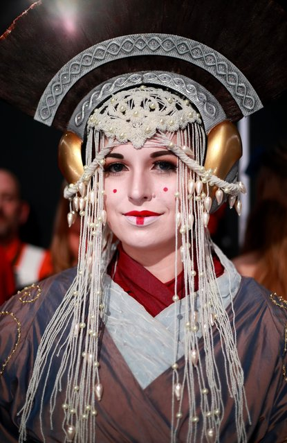 "Cosplayer, dressed as Padmé Amidala are seen at the Premiere of Disney's ""Star Wars: The Rise Of Skywalker"" on December 16, 2019 in Hollywood, California. (Photo by Rich Fury/Getty Images)"