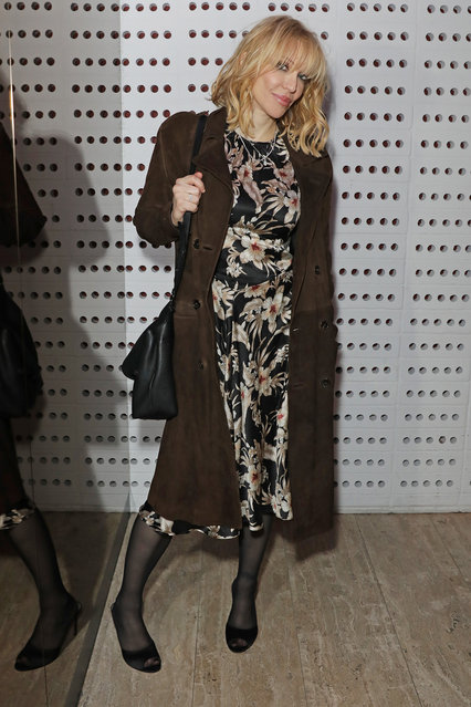 Courtney Love attends the LOVE Magazine LFW Party, celebrating issue 23 at The Standard, London on February 17, 2020 in London, England. LOVE magazine is welcoming Ben Cobb as Editor-In-Chief Men's, Graham Rounthwaite as Creative Director, and Oliver Volquardsen as Fashion Director. (Photo by David M. Benett/Dave Benett/Getty Images for LOVE Magazine)