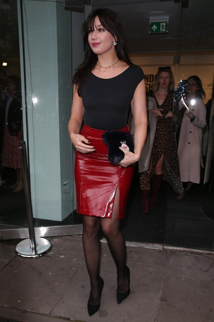 Daisy Lowe seen at Eudon Choi at BFC Showspace during London Fashion Week September 2017 on September 15, 2017 in London, England. (Photo by Neil Mockford/GC Images)