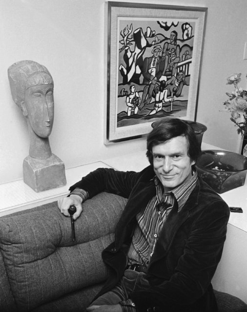 Playboy philosopher Hugh Hefner says his 200 million dollar empire is setting down after a flamboyant youth and a tumultuous adolescence, November 16, 1977. (Photo by Carlos Rene Perez/AP Photo)