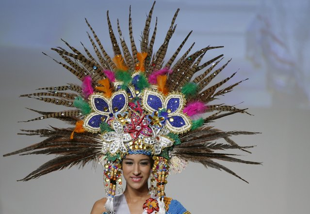 Yaoska Ruiz representing Nicaragua poses in national dress during the 55th Miss International Beauty Pageant in Tokyo, Japan, November 5, 2015. (Photo by Toru Hanai/Reuters)