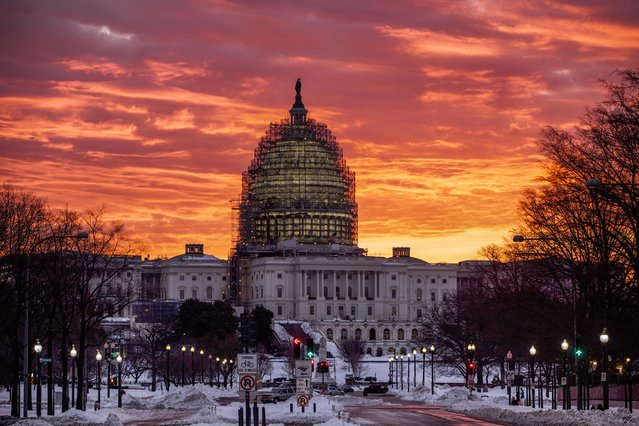 The Capitol in Washington is seen at sunrise, Tuesday, January 26, 2016. (Photo by J. Scott Applewhite/AP Photo)