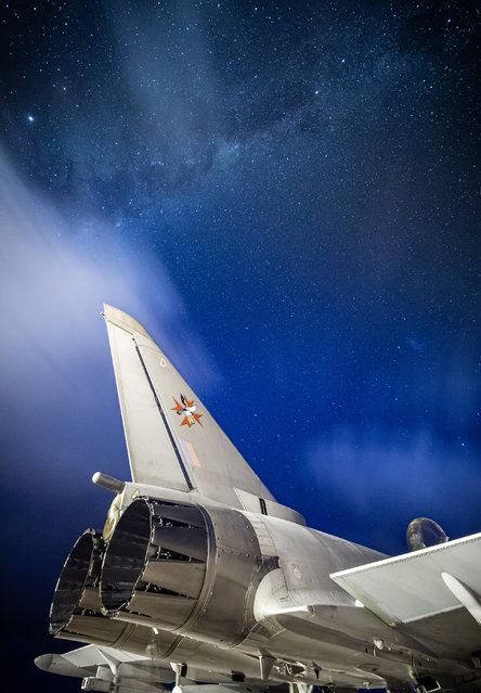 RAF Equipment, 1st place. Stars illuminate the sky over the Falklands Islands as an RAF Typhoon aircraft passes. (Photo by Sgt Andy Holmes/2020 RAF Photo Competition)
