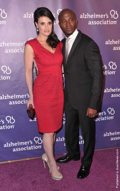 Actress Idina Menzel and actor Taye Diggs