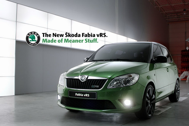 Skoda Fabia vRS Mean Green
