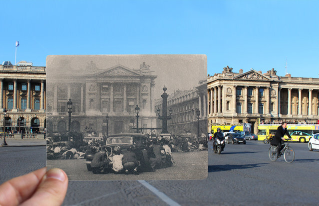 Place de la Concorde in the 1940s. (Photo by Julien Knez/Caters News)