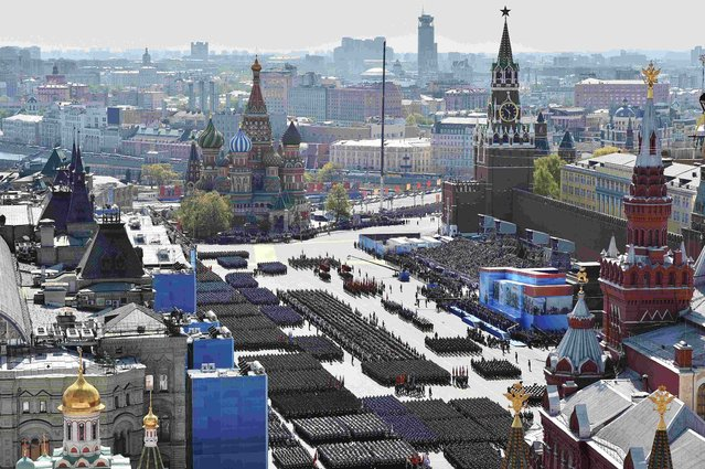 A general view of the Victory Day parade at Red Square in Moscow, Russia, May 9, 2015. (Photo by Reuters/Host Photo Agency/RIA Novosti)