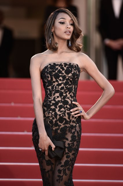 """Model Jourdan Dunn attends the """"Little Prince"""" (Le Petit Prince) Premiere  during the 68th annual Cannes Film Festival on May 22, 2015 in Cannes, France. (Photo by Ian Gavan/Getty Images)"""