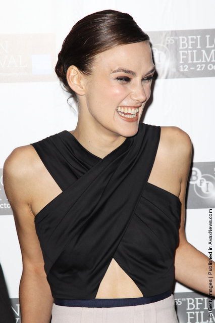 Keira Knightley attends the premiere for 'A Dangerous Method' at The 55th BFI London Film Festival at The Odeon West End