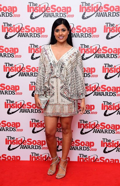 Priya Davdra arriving for the Inside Soap Awards 2019 held at Sway, Covent Garden, London. (Photo by Ian West/PA Images via Getty Images)