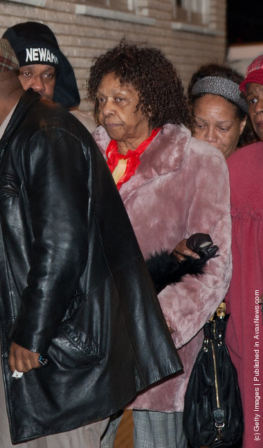 Cissy Houston arrives as Whitney Houston's Body Arrives In New Jersey Ahead Of Her Funeral at Whigham Funeral Home