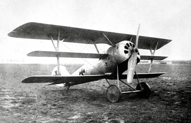 A German Pfalz Dr.I single-seat triplane fighter aircraft, ca. 1918. (Photo by San Diego Air and Space Museum Archive via The Atlantic)
