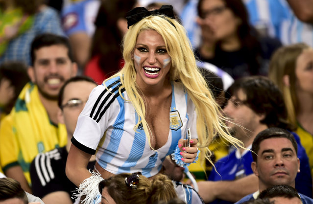 Argentinian fans; Argentina v Bosnia-Herzegovina, FIFA World Cup Football Match, Group F, Estadio Do Maracana, Rio de Janeiro, Brazil, 15 June 2014. (Photo by Gustavo Basso/Rex Features)