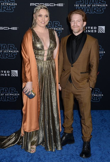 "Clare Grant and Seth Green attend the Premiere of Disney's ""Star Wars: The Rise Of Skywalker"" on December 16, 2019 in Hollywood, California. (Photo by Broadimage/Rex Features/Shutterstock)"