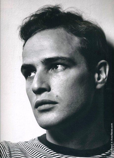 American movie star Marlon Brando. USA, New York City, Halsman's studio, 1950