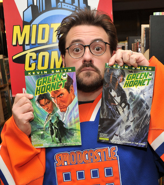 Writer and director Kevin Smith was the ultimate fanboy before fanboys were a thing. The AMC reality show Comic Book Men follows the goings on at his comic book shop, appropriately named Jay and Silent Bob's Secret Stash in honor of Smith's best-known characters, located in Red Bank, New Jersey. Photo: Writer/director Kevin Smith visits Midtown Comics on March 4, 2011 in New York City. (Photo by Stephen Lovekin/Getty Images)