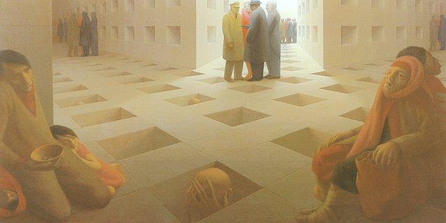 Waiting Room. Artwork by George Tooker