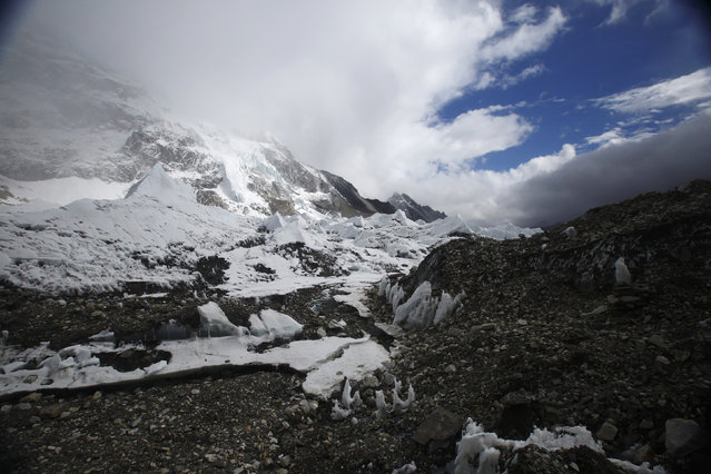 Everest base camp is seen approximately 17388 feet above sea level in Solukhumbu District May 6, 2014. (Photo by Navesh Chitrakar/Reuters)