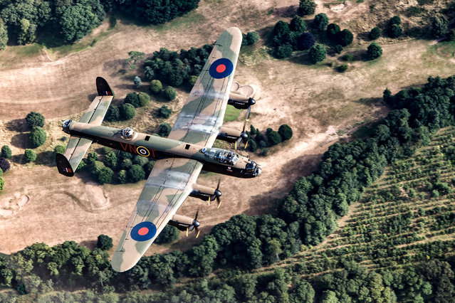 """Avro Legacy"". RAF100, second prize: The RAF100 parade and flypast took place over London on 10 July 2018. The evening before an Avro Lancaster bomber flew a practice flight over Lincolnshire. (Photo bu Cpl Tim Laurence RAF/RAF)"