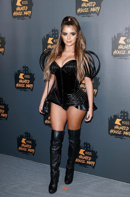 Demi Rose attends KISS Haunted house Party 2018 at The SSE Arena, Wembley on October 26, 2018 in London, England. (Photo by John Phillips/Getty Images)