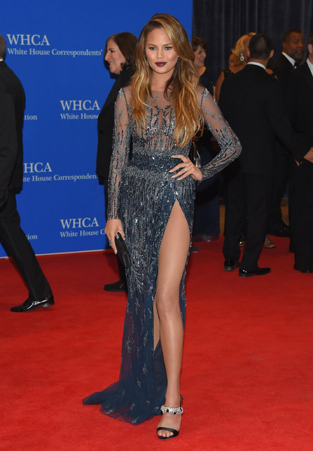 Chrissy Teigen attends the 101st Annual White House Correspondents' Association Dinner at the Washington Hilton on April 25, 2015 in Washington, DC. (Photo by Michael Loccisano/Getty Images)
