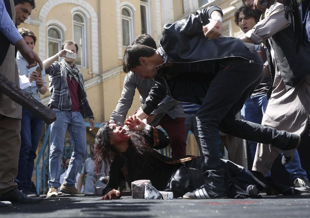 Re-enactment of Farkhunda's Killing in Afghanistan