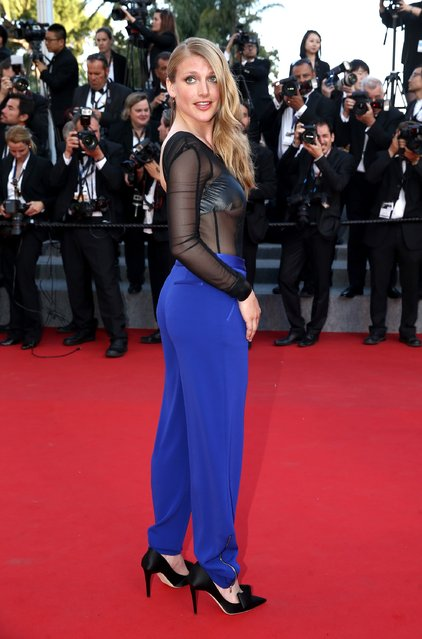 """Charlotte Vandermeersch  attends the """"Little Prince"""" (Le Petit Prince) Premiere  during the 68th annual Cannes Film Festival on May 22, 2015 in Cannes, France. (Photo by Andreas Rentz/Getty Images)"""