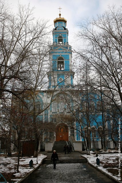 A general view of Voznesensky Cathedral in Yekaterinburg, Russia