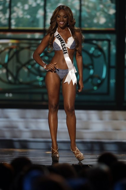 Miss Tennessee, Kiara Young, competes in the bathing suit competition during the preliminary round of the 2015 Miss USA Pageant in Baton Rouge, La., Wednesday, July 8, 2015. (Photo by Gerald Herbert/AP Photo)