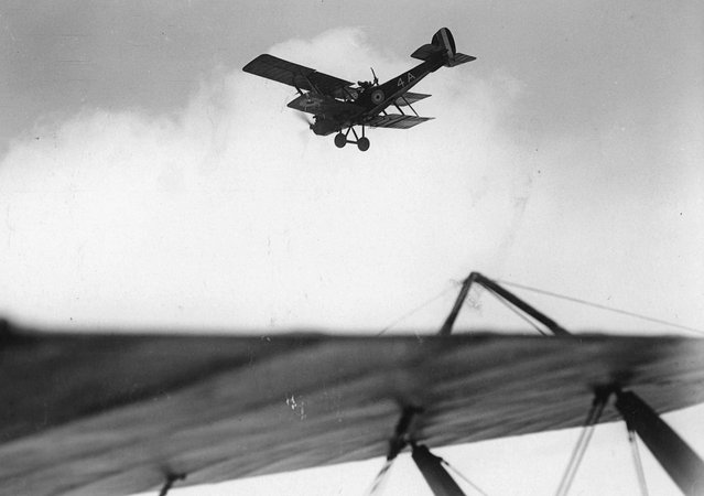 British reconnaissance plane flying over enemy lines, in France. (Photo by National Library of Scotland via The Atlantic)