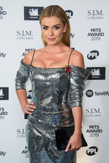Katherine Jenkins arriving for the MITS Awards at Grosvenor House, central London on November 4, 2019. (Photo by Matt Crossick/PA Images via Getty Images)