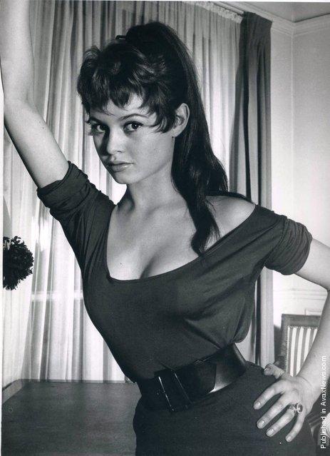 Portrait of Brigitte Bardot (age 17) in her Paris flat. France, Paris, 1951