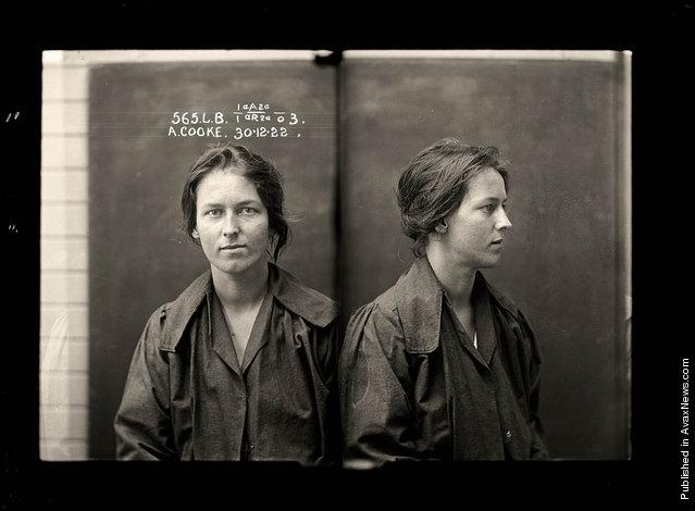 Alice Adeline Cooke, criminal record number 565LB, 30 December 1922. State Reformatory for Women, Long Bay, NSW