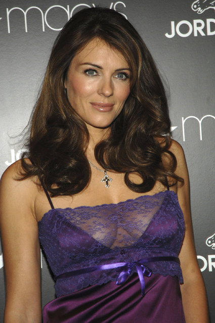 Actress Elizabeth Hurley attends  the launch of the Jordache Spring/Summer 2007 collection at Macy's Herlard Square on February 1, 2007 in New York City.  (Photo by Brad Barket)