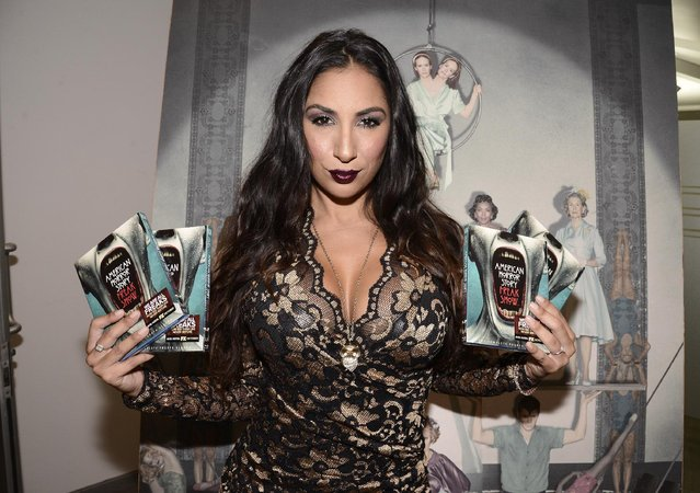 Actress Liana Mendoza seen at the opening night of an American Horror Story-inspired fan art exhibition at the Hero Complex Gallery in Los Angeles on Friday, October 2, 2015. The pop art exhibition, which runs through Oct. 18, features more than 100 originals, prints and sculptures. American Horror Story: Freak Show will be released on Blu-ray and DVD on Oct. 6. (Photo by Dan Steinberg/Invision for Twentieth Century Fox Home Entertainment via AP Images)