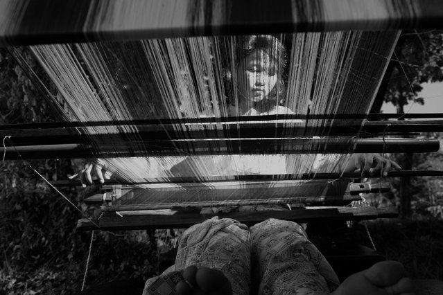 """""""Silk weaving is one of the sources of income in Tosora, Sulawesi Selatan, Indonesia"""". (Photo and comment by Fahmy Husain, Indonesia/2013 Sony World Photography Awards"""