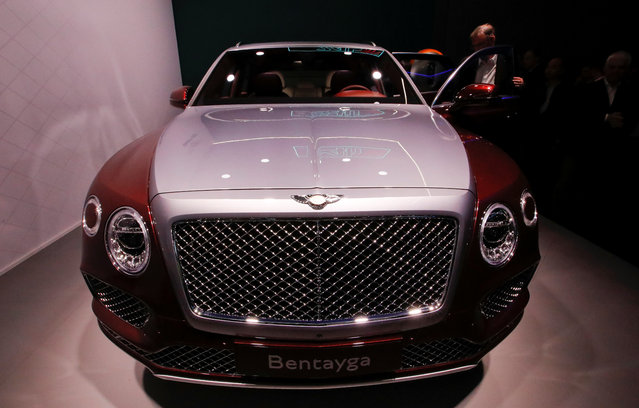 Bentley Bentayga is presented during the press day at the 88th Geneva International Motor Show in Geneva, Switzerland on Tuesday, March 6, 2018. (Photo by Denis Balibouse/Reuters)