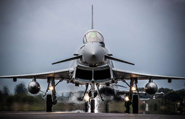 RAF Equipment, 3rd place. A Typhoon FGR Mk4 of 29 Squadron Operational Conversion Unit, RAF Coningsby, taxis after a training flight. (Photo by Sgt Paul Oldfield/2020 RAF Photo Competition)