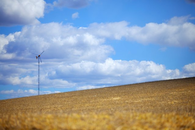A wind turbine installed by United Wind is shown in a field in Millerton, New York in this March 2013 publicity photo released to Reuters on January 4, 2016. (Photo by Reuters/United Wind)