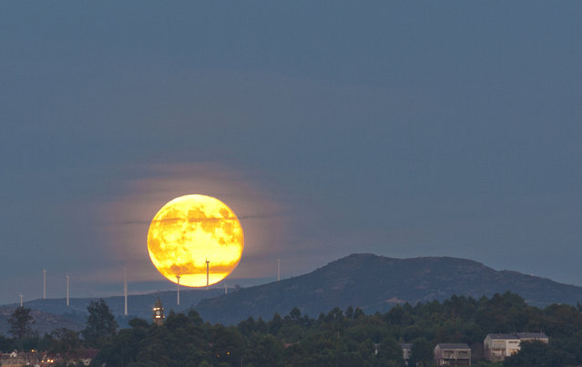 Harvest moon. (Photo by Antonio Costa)