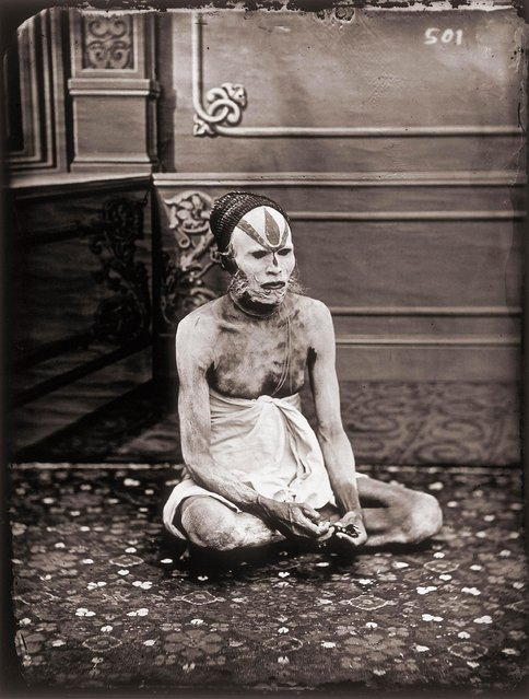 Portrait of a fakir, in the Royal Palace of Jaipur, India, 1857 – 1865. (Photo by Maharaja Ram Singh III/Alinari via Getty Images)