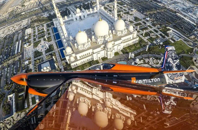 A participant prepares for the Red Bull Air Race World Championships in Abu Dhabi, United Arab Emirates on February 6, 2017. (Photo by Red Bull Content Pool/SIPA Press/Rex Features/Shutterstock)