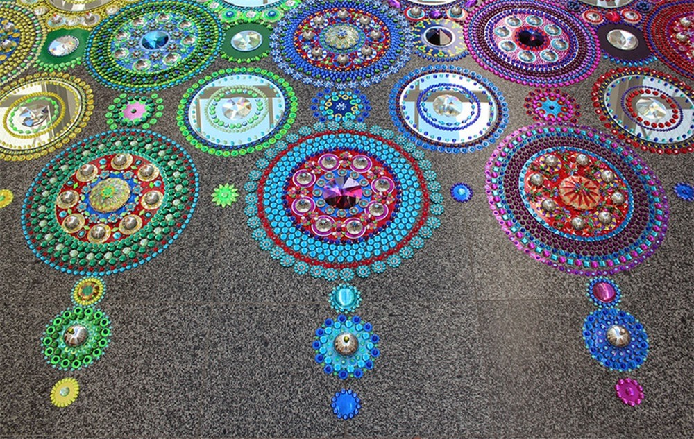 Kaleidoscopic Crystal Floor by Suzan Drummen