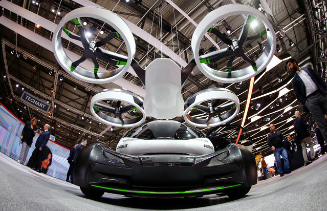 A Volkswagen I.D. Buzz concept car is seen during the 87th International Motor Show at Palexpo in Geneva, Switzerland March 8, 2017. (Photo by Arnd Wiegmann/Reuters)