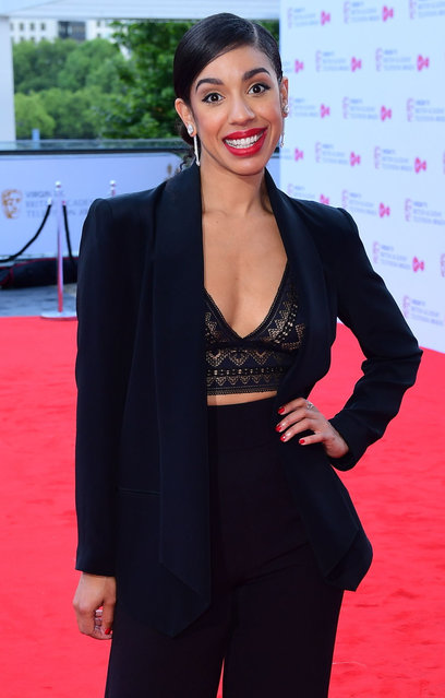 Pearl Mackie attends the Virgin TV BAFTA Television Awards at The Royal Festival Hall on May 14, 2017 in London, England. (Photo by Ian West/PA Wire)