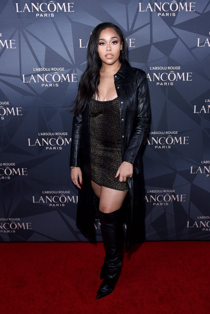 Jordyn Woods attends Lancôme x Vogue L'Absolu Ruby Holiday Event at Raspoutine on December 05, 2019 in West Hollywood, California. (Photo by Presley Ann/Getty Images for Lancôme x Vogue)
