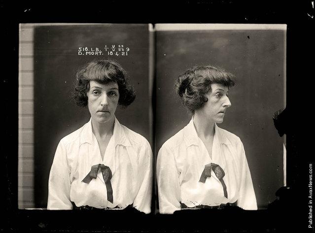 Dorothy Mort, criminal record number 518LB, 18 April 1921. State Reformatory for Women, Long Bay, NSW