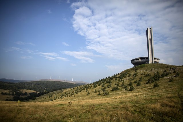 A view of the Memorial House of the Bulgarian Communist Party on mount Buzludzha September 12, 2014. (Photo by Stoyan Nenov/Reuters)